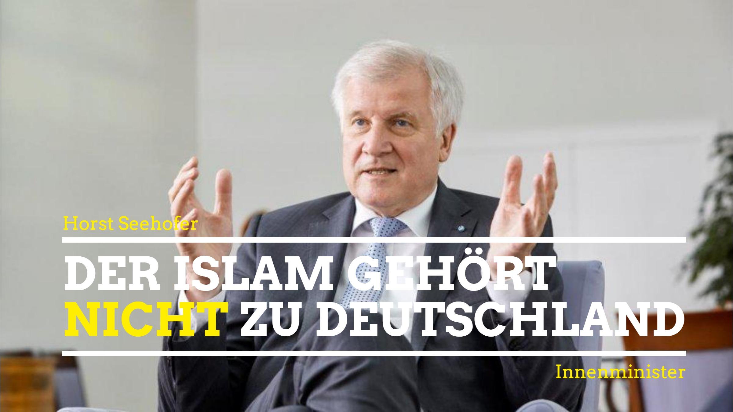 Seehofer Islam Gehört Nicht Zu Deutschland